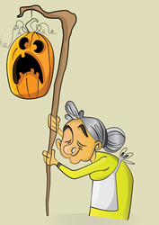 Halloween Mother witch by Bidom
