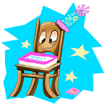 Birthday Chair by Catcoalatte