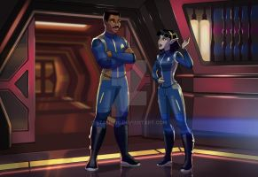 A Young Lt. T' Var Lectures the Captain! by StalinDC