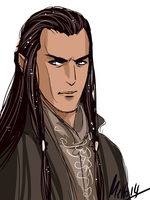 Another portrait of Elrond, and I think I will by MellorianJ