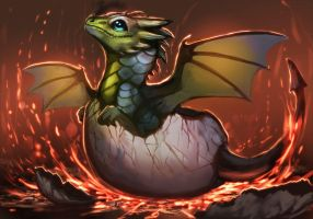 Dragon Baby by magmi