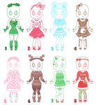 Seasonal Outfit Adopts || 2/8 OPEN by CuteWish