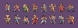 Street Fighter 2 Characters by AlbertoV