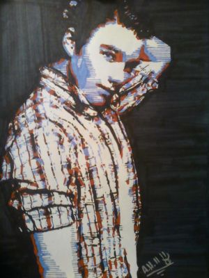 Chris Colfer Hand Draw Pop Art by SinLikeUMeanIt