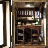 Vintage pub house (N0.1)-Country small bar by dollhouseara