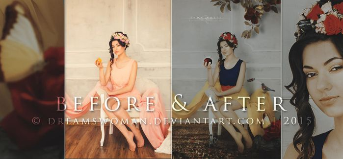 Before and After - Snow White by dreamswoman
