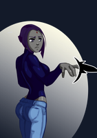 112713 Raven - Stop Staring at my Butt by morganagod
