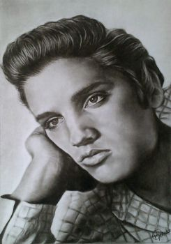 Elvis drawing by KirstyPartridgeART