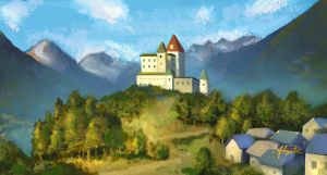 Tarasp Castle by Lazy-Whale