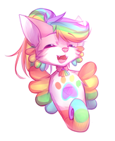 Rainbow Seapup (Commission) by Zharleste