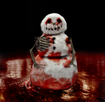 Bloody Snowman Into The River by VelmaGiggleWink