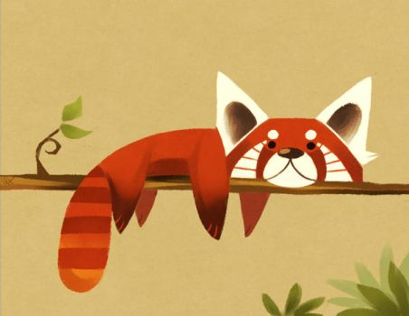 Red Panda by Canvascope