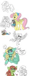 Good God, Another MLP Sketch Dump by Celestial-Rainstorm