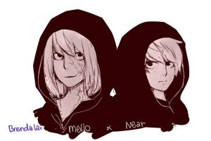 Death Note Mello and Near by brendalai
