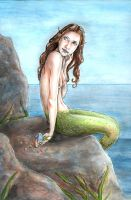young mermaid looking around by wasteddreams