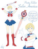Pretty Soldier Sailor America by objectively-pink