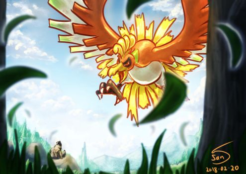 ho-oh by 000SanS000