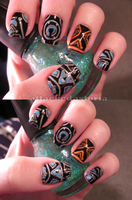 tron nails by xtheungodx