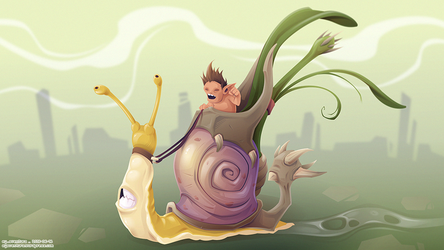 Snail by Dillerkind