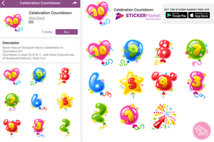 chat Stickers: Balloon Celebration Countdown by MissChatZ