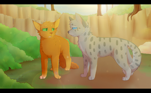 Ashfur and Squirrelflight 2017 Redraw +Speedpaint by recovery-paws
