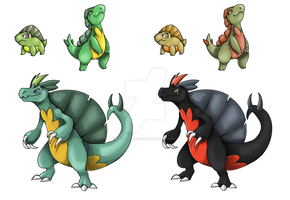 Errid Region Grass Starters by rayvenredfield