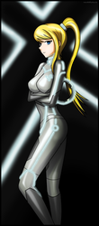 Samus goes Tron by Rosvo