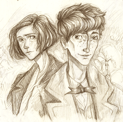 tina and newt - pencil by SpeakLike-a-Child