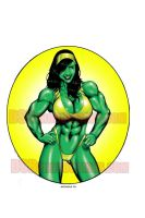 SHE-HULK IN YELLOW by Dwid