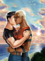 Superboy x Aqualad by Autumn-Sacura