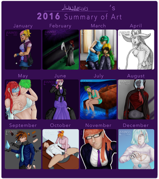 2016 Summary of Art by Lunakiri