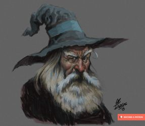 Gandalf-Sketch-May-2018 - by grobles63
