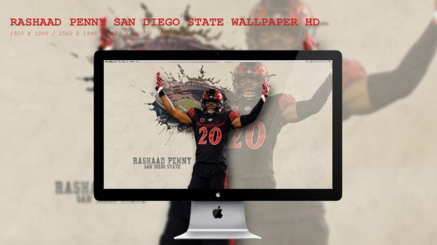Rashaad Penny San Diego State Wallpaper HD by BeAware8