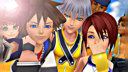 [MMD-KH1] Destiny Island Group Selfie by EliteAnimations