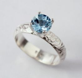 Aquamarine Engagement Ring by SoulStoneDesigns