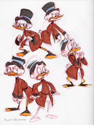 Scrooge Sketches by little-ampharos