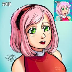 Amy Rose human Remake by heitor-jedi