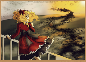 Candy Candy manga coloring - Sunset by selinmarsou