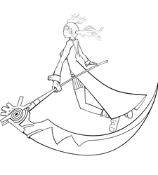 Maka and Soul Lineart by 4thWarmasterKais