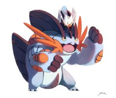 Mega Swampert and Wingull