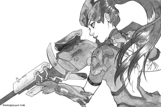 INKtober2017.Day5 : Widowmaker by Kme