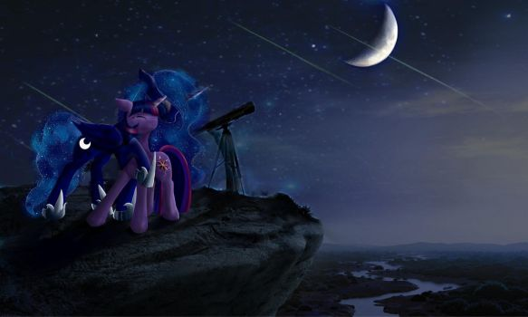 looking the moon....... Unfinished by dragontwi
