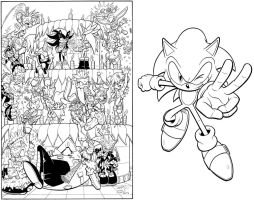 SONIC SUPER SPECIAL 7 cover inks by SKY-BOY