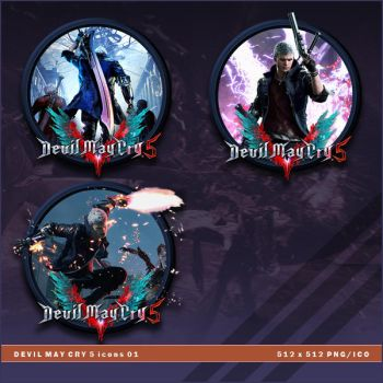 Devil May Cry 5 icons by BrokenNoah