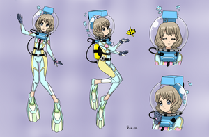 Akiho Shinomoto LAMA Scuba - Color Version by The-Sakura-Samurai
