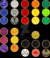 Kamen Rider OOO - Core Medals by W-Double