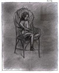 Girl on chair by Adorax
