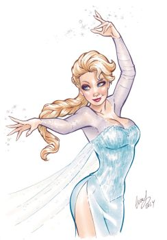 Queen Elsa Copic-digital by Elias-Chatzoudis