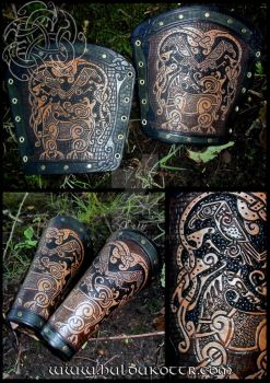 Sleipnir and Ravens bracers for the UK by Huldukottr