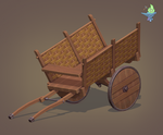 Cart Low Poly by BenFlex